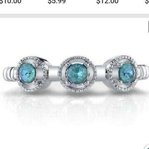 NWT Fragrant Jewels Ring Size 7 blue stones Ferris